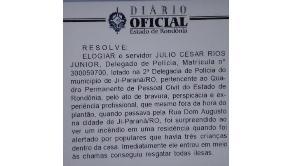 Delegada salva três crianças de incêndio em Ji-Paraná
