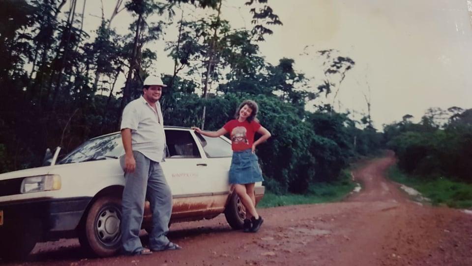 Policial José Galdino e a delegada estado Leyna Pimenta