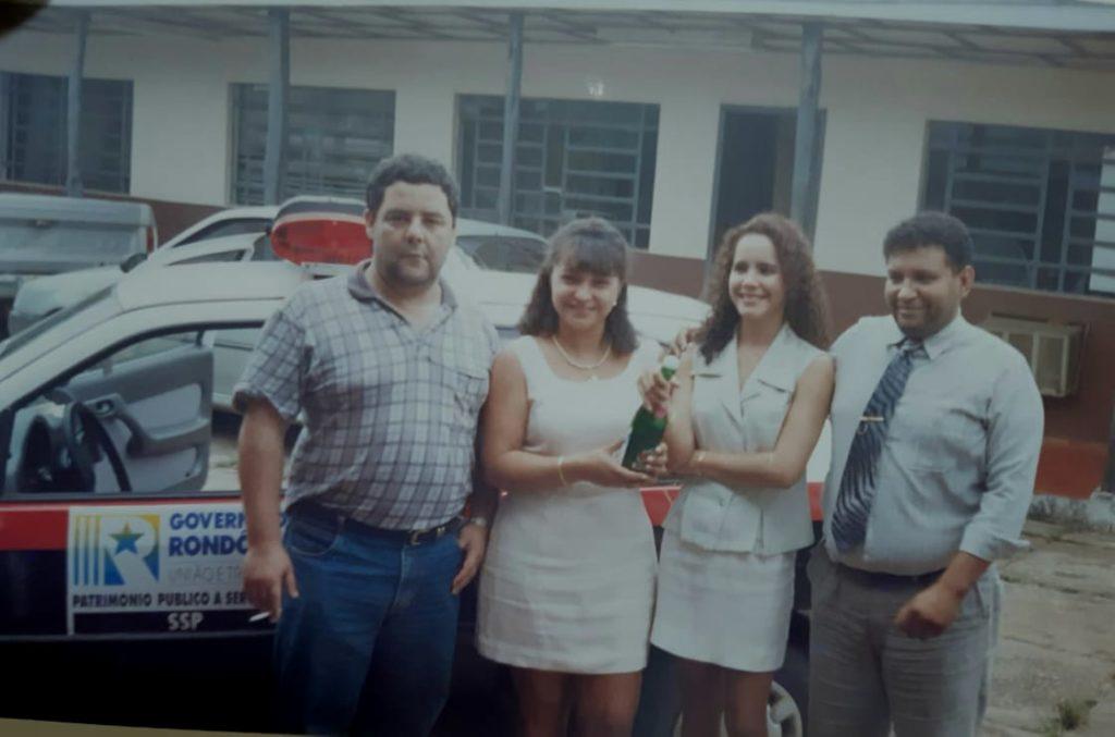 Delegados Paulo Moraes, Edna Mara, Alessassandra Paraguassu e o Saudoso Figueiredo