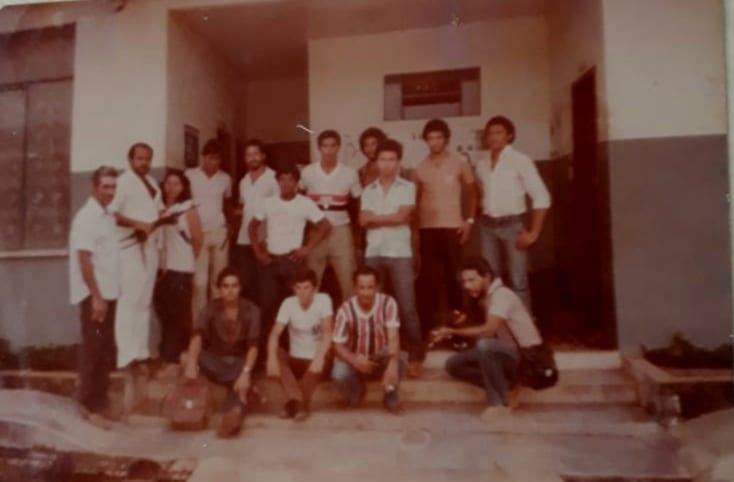 foto antiga dos policiais da cidade de Presidente Medice