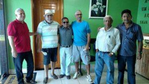 Os veteranos: Dias, Iran, Adão Vargas, João Damasceno Antonio Costa e Rivaldo Veras.
