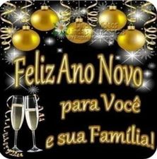Feliz Ano Novo para os colegas e familiares
