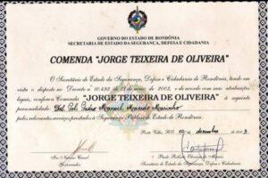 """Comenda """"Jorge Teixeira de Oliveira"""