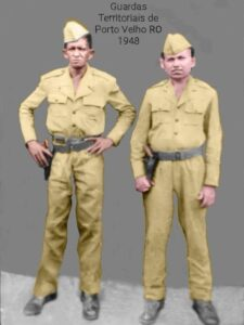 1948 – Dois membros da Guarda Territorial